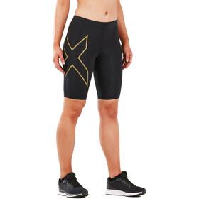 2XU MCS Run Shorts Women black/gold reflective